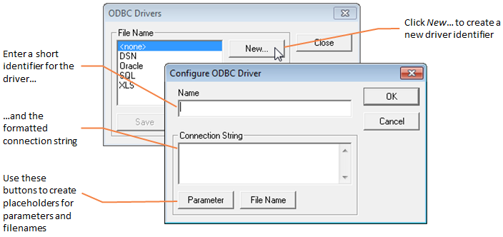 Creating a new ODBC driver identifier | External references