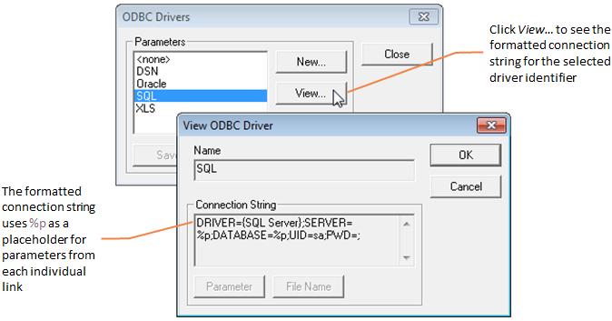 Understanding an explicit ODBC link | External references