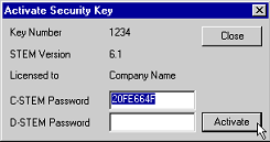 Activating a security key | Understanding STEM copy